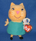TY CANDY CAT the BEANIE BABY (PEPPA PIG) - MINT with MINT TAGS