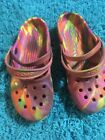 Crocs Womens 7 Tie Dye Multicolor Mary Jane Rubber Karin Clog