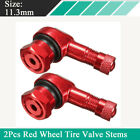 2Pcs 11.3mm CNC Aluminum Motorcycle Rim Wheel Tire Valve Stems w/ rubber O-rings