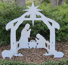 Christmas Nativity Scene Yard Outdoor Large Lawn Decor Holidays Stable Sign New