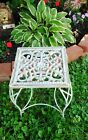 VINTAGE ANTIQUE FRENCH WROUGHT CAST IRON PATIO GARDEN SIDE TABLE PLAN