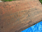 HUGE Antique MOTHERS OATS Wood Crate Box Great Western Cereal Chicago c.1900s