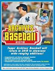 2018 Topps Archives Baseball (10 24) Factory Sealed Hobby Box 24 Packs 2 AUTOS