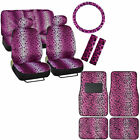 New Safari Animal Print Premium Seat Covers Floor Mats Set Custom Design