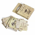 46pcs Vintage Forest Animals Plants Stamps Stickers DIY Scrapbooking Stationery