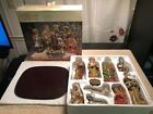 Absolutely Gorgeous Kirklands 12pc Nativity Set W box  Wooden Base
