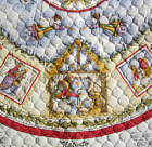 2 Christmas Dianna Marcum Nativity Tree skirt Fabric Quilted Panels Craft Kit