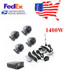 1400W Motorcycle Stereo 4 Speaker Audio MP3 System AUX USB FM - US Stock