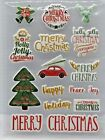 Merry Christmas Peace Joy Sayings Phrases Puffy PC Stickers