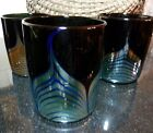 Steven Correia 1986 Special Anniversary Art Glass Pulled Feather Tumbler 7 Avail
