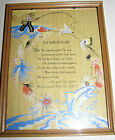 VINTAGE MOTTO POEM PICTURE, WONDERFUL DAD, BUZZA STYLE, FISHING THEME, 1943