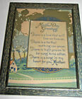 VINTAGE ANTIQUE MOTHER FRAMED MOTTO POEM , ART DECO STYLE, 6 BY 8 INCHES