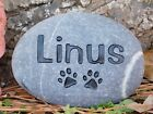 Pet Memorial Personalized Cat or Dog Sandcarved River Stone