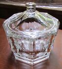 Clear Glass Retro Candy Dish/Jar With Lid
