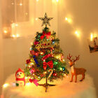 Tabletop Artificial Small Mini Christmas Tree With LED Light  Ornaments Decor
