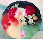 Antique Limoges LRL Handpainted Roses by Artist Signed Rogin Cabinet Plate