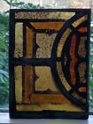GOTHIC FIRED STAINED GLASS WINDOW SUNCATCHER NYC AREA CHURCH 1889