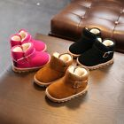 Kids Baby Girl Winter Boots Shoes Toddler Infant Cotton Soft Sole Snow Booties