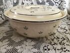Vintage Kitchen Kraft Oven Serve Casserole Dish With Lid with Silver Pattern