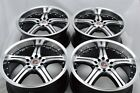 4 New DDR ST10 17x75 5x100 1143 35mm Black Machined Wheels Rims