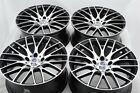 4 New DDR Zuki 18x8 5x120 38mm Black Polished Wheels Rims