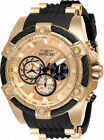 Invicta Men's Bolt 100m Rose Gold Tone Stainless Steel/Silicone Watch 28014
