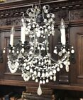 FINE ANTIQUE FRENCH / ITALIAN HAND BLOWN GLASS BEADS CHANDELIER MAKE OFFER ! : )