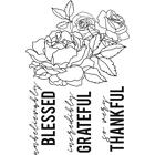 Flower Saying Peachy Collection Clear Unmounted Rubber Stamp Set Kaisercraft NEW
