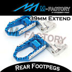 For MV Agusta 989R Brutale 2008+ Blue Passenger Rear Foot Pegs 39mm Extension