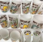 's Frosted Set of 4 Bar Glasses Graphic Funny Bird Rare  SKU 026-137