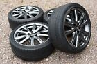 Genuine 19 Lexus GS Staggered Alloy Wheels Tyres Dunlop Bridgestone Grey