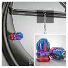 Blue & Red CNC Aluminum Motorcycle Tire Valve Cap Cover Wheel Decoration