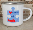 Camping Cup Camper Mug Stainless Steel Coffee Tea I Love Someone With Autism New