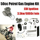 50cc 2 Stroke Petrol Gas Engine Motor Kit For Motorized Road Bike Bicycle Cycle