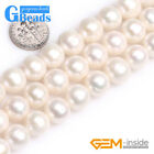 Genuine Near Round White Freshwater Pearl Beads For Jewelry Making Free Shipping