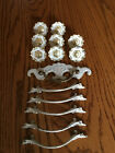 Lot of 14 Old Baroque Style Dresser Drawer Bail Pulls/Knobs