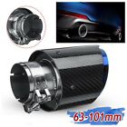 1Pcs Round ID2563mm OD4101mm Glossy Carbon Fiber Exhaust Pipe tip Blue