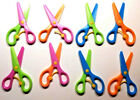 8 Safety Scissors Plastic Paper Cutting Occupational Therapy Kids Toys Gift US