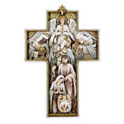 Nativity Cross Wall Plaque Resin 1225 H