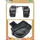 2PCS PU Leather Motorcycle Saddle Bag Storage Tool Pouch Waterproof Tool Bag