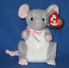 TY BREADCRUMBS the MOUSE BEANIE BABY - MINT with MINT TAGS - BBOM