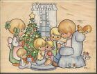 STAMPENDOUS Brand RUBBER STAMP PRECIOUS MOMENTS Design CHRISTMAS FAMILY NEW
