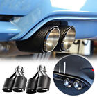 63mm Inlet 89mm Outlet Carbon Fiber Car Exhaust Tip Muffler Dual Tips Left+Right