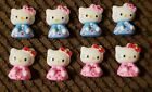 8 HELLO KITTY KIMONO FLAT BACK RESINS IN PINK AND BLUE
