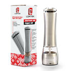 Electric Salt or Pepper Mill 1 Pk Automatic Ceramic Grinder with Light