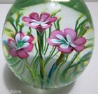 Vintage Murano Art Glass EGG Pink Flowers FERRO LAZZARINI 3 ORIGINAL TAG