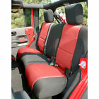 Neo Rear Seat Cover BlkRed 07 17 JK