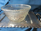Vtg Anchor Hocking Wexford Serving / punch Bowl, Diamond Pattern 9.75