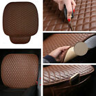 1PC Car Front Seat Covers Cushion Pad with Storage Bag Coffee Color PU Leather