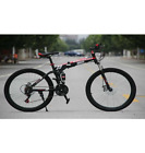 26 inch Mountain Bike Bicycle 21 Speed Front Suspension Folding Bike RANDOM COL